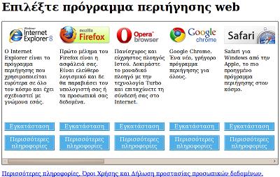 Σελίδα BrowserChoice.eu