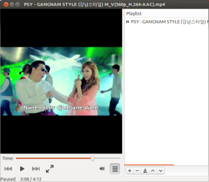 GangmanStyle in Totem, showing subtitles