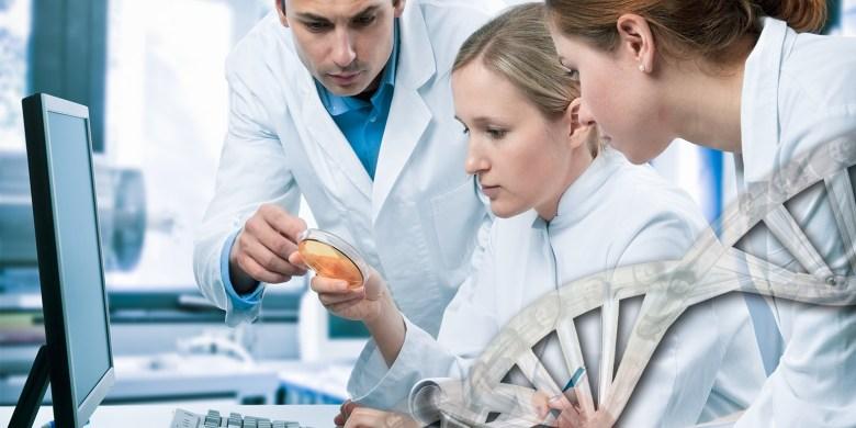 Foto van laboranten