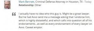 Bennett Endorsement