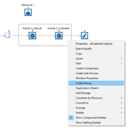Simulating automated process with manual set-up 2