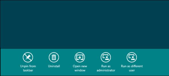Run as different user in Start menu of Windows 8