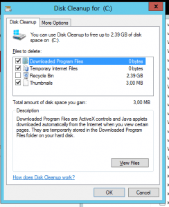 Disk Cleanup for Windows Server 2008/2012
