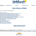 Turn multiple links into one with Link Buch