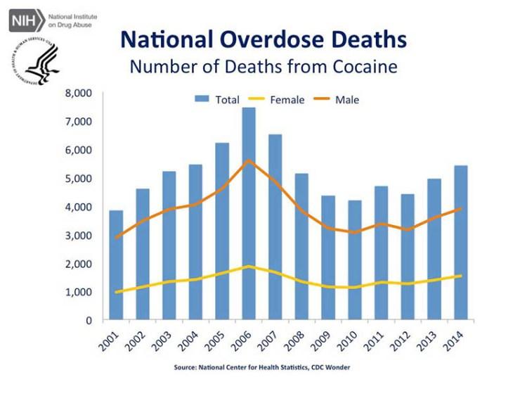 Mortalità per cocaina negli USA