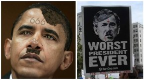No matter how many times you draw that stache on the other guy's face, it still doesn't make him Hitler.