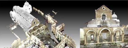 Point clouds of laser scanner 3D operations