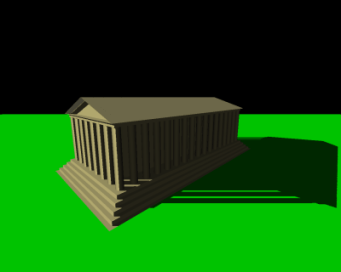Final scene, rendered with shadows