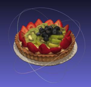 fruit tart cropped in meshlab