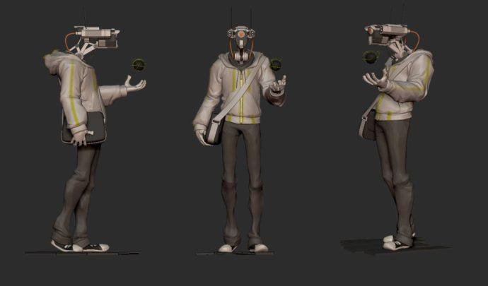 Lots of things to fix here: Pants, arms, shoes, etc.