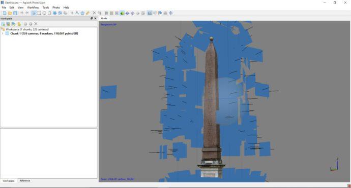 Figure 3: Point-of-interest photographs of an obelisk.