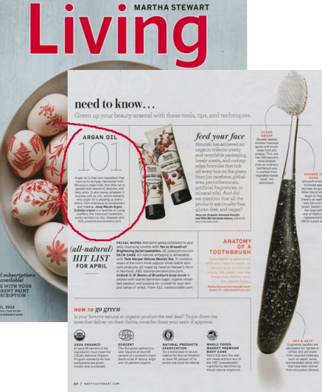martha stewart living need to know products argan oil circled