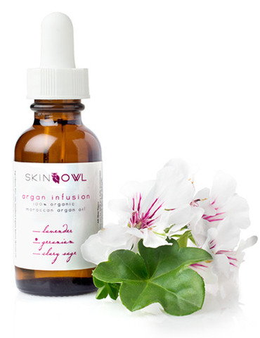 geranium argan essential oil skincare
