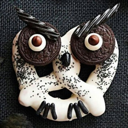 owl oreo pretzel fun idea