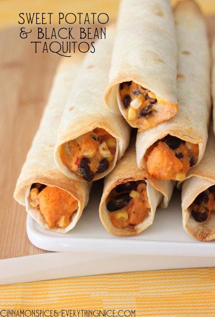 sweet potato and black bean taquitos recipe
