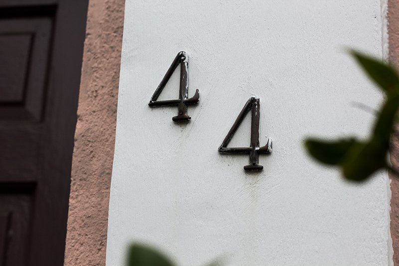 House address numbers.