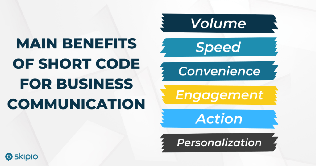 Main benefits of short code for business communication