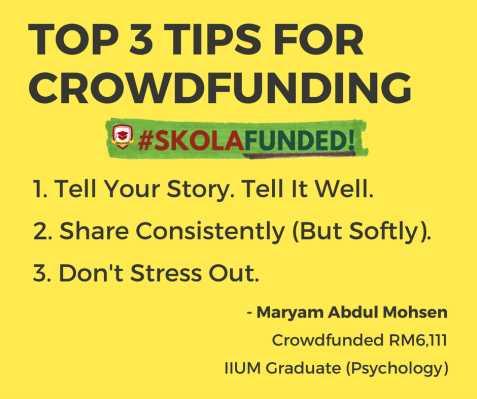 Top 3 Tips for Crowdfunding - Maryam