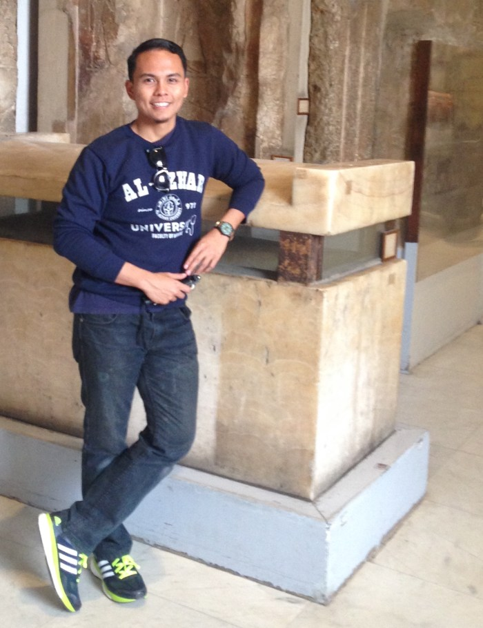 Luqman looking all interesting at the Egyptian National Museum.