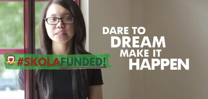 She's a Dreamer In Action, and she's looking to pay it forward -Skolafunded