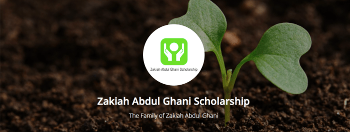 Apply for the Zakiah Abdul Ghani Scholarship 2017 oday!