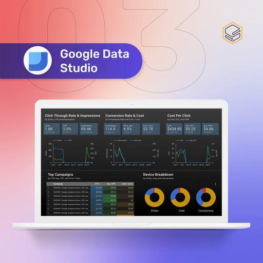 Google Data Studio | Skooldio Blog - 4 เครื่องมือที่จะช่วยให้คุณเริ่มต้นทำ Data Visualization อย่างง่าย