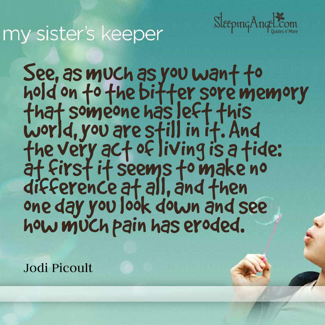 My Sisters Keeper Quote  Sleeping Angel