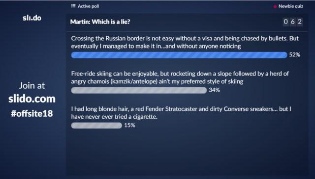 Newbie quiz icebreaker activity
