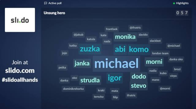 Using world cloud poll in Slido