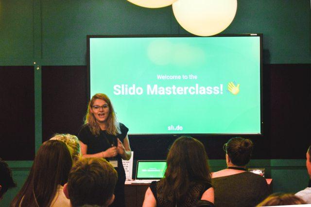 Slido Masterclass roadshow event introduction