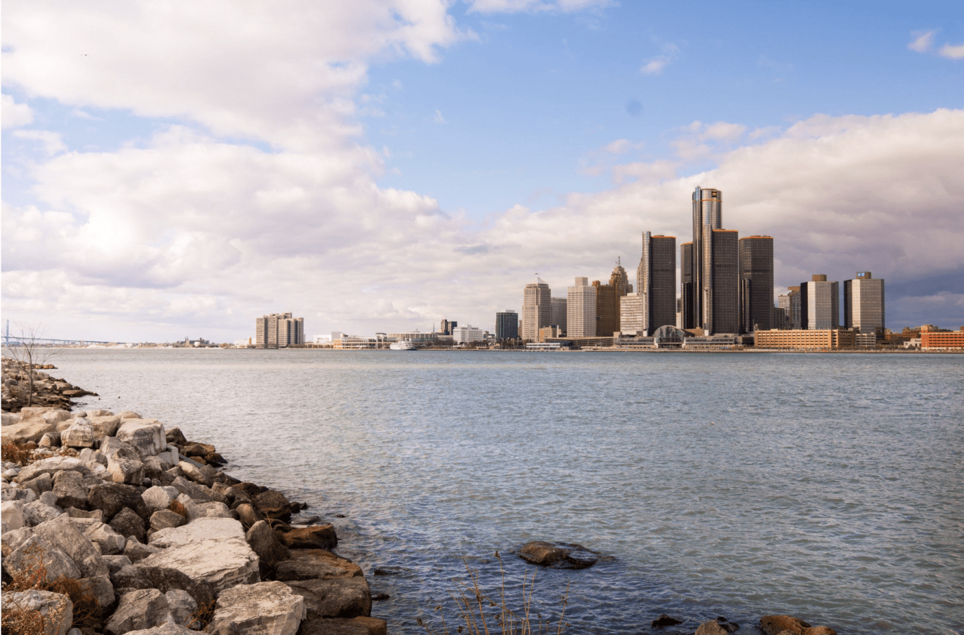 View of downtown detroit