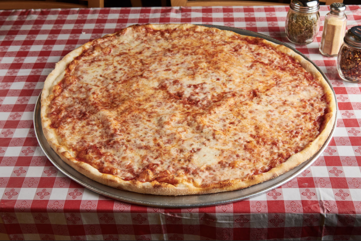 Typical large New York style pie