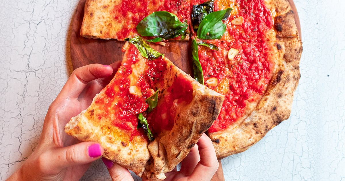 Cheeseless Pizza Marinara