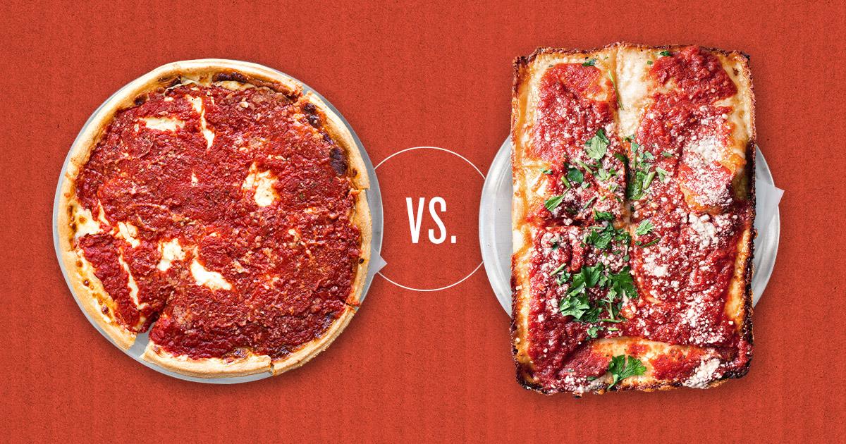 Deep Dish Detroit Style Pizza