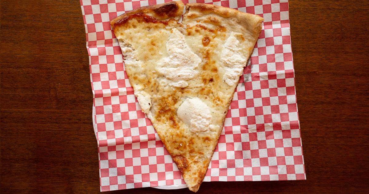 White pizza slice
