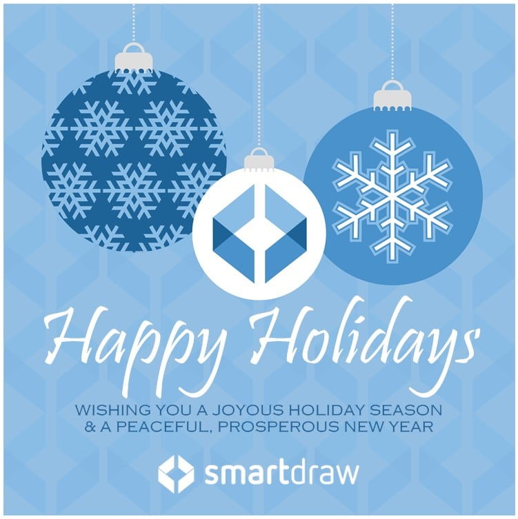 SmartDraw holiday card 2015