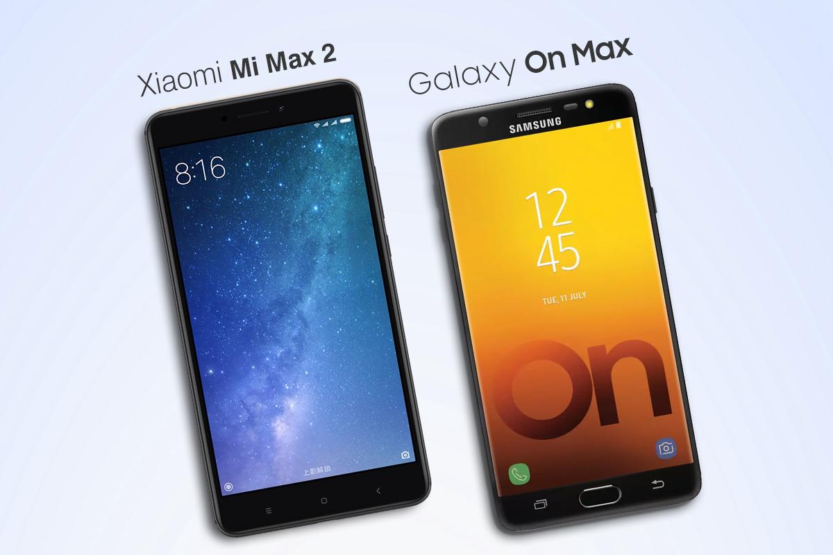 xiaomi mi max 2 vs samsung galaxy on max phone comparison. Black Bedroom Furniture Sets. Home Design Ideas