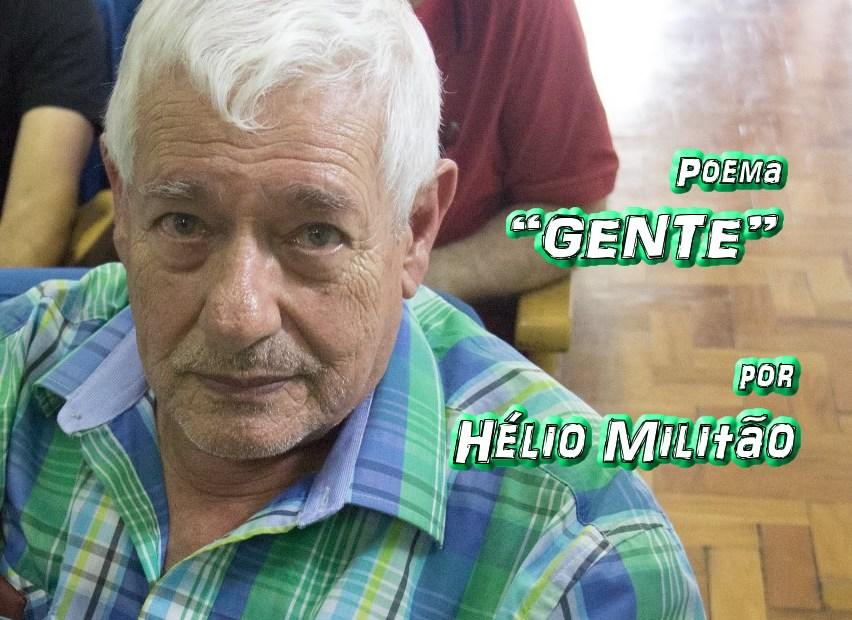"""06 - Poema """"GENTE"""" por Hélio Militão - Pílulas de Poesia"""
