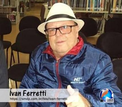 Ivan Ferretti, poeta, participante no projeto Publique-se da SMDP em prol do Café com Poesia. Coleção: Leveza da Alma - Volume 5