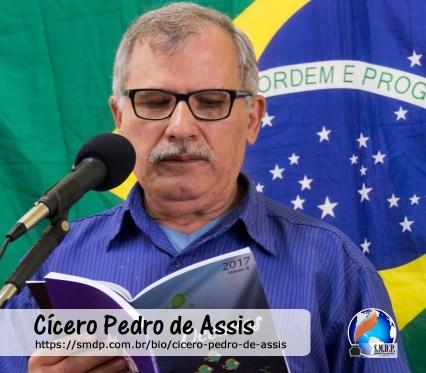Cícero Pedro de Assis, poeta cordelista, participante no projeto Publique-se da SMDP em prol do Café com Poesia. Coleção: Leveza da Alma - Volume 4