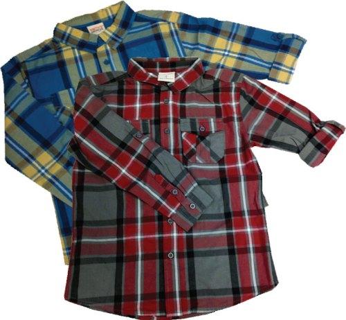 Boys Smith's American Long Sleeve Plaid Shirt