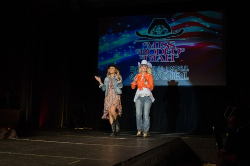 Bailey Jo Woolsey and Stephanie Jimerson at Miss Rodeo Utah 2014