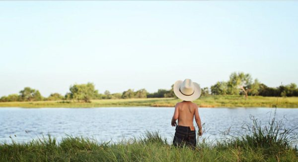 Colton at the river