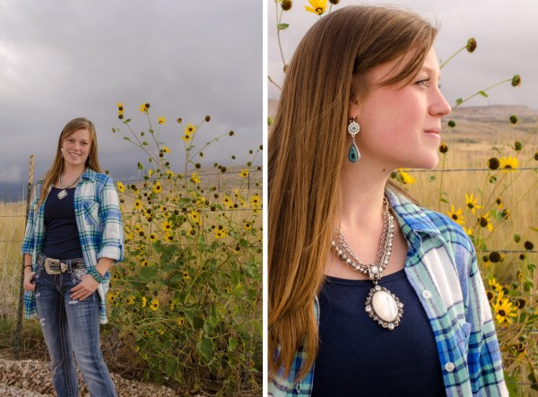 Flannel tee and turquoise jewelry help you stay stylish in cool weather!