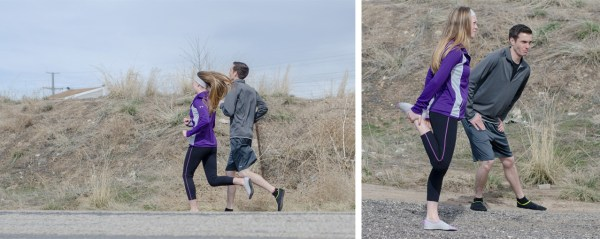 Jerica & Brent jogging with Fitkicks