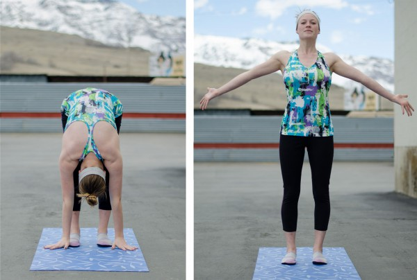 Jerica in her March outdoor yoga outfit at Smith & Edwards