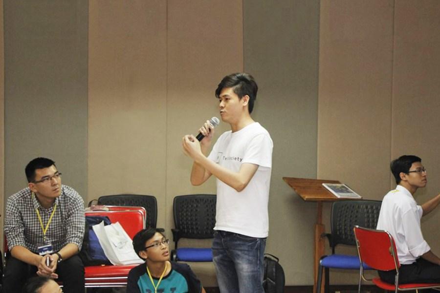TechSociety Jackson speaking in Vietnam