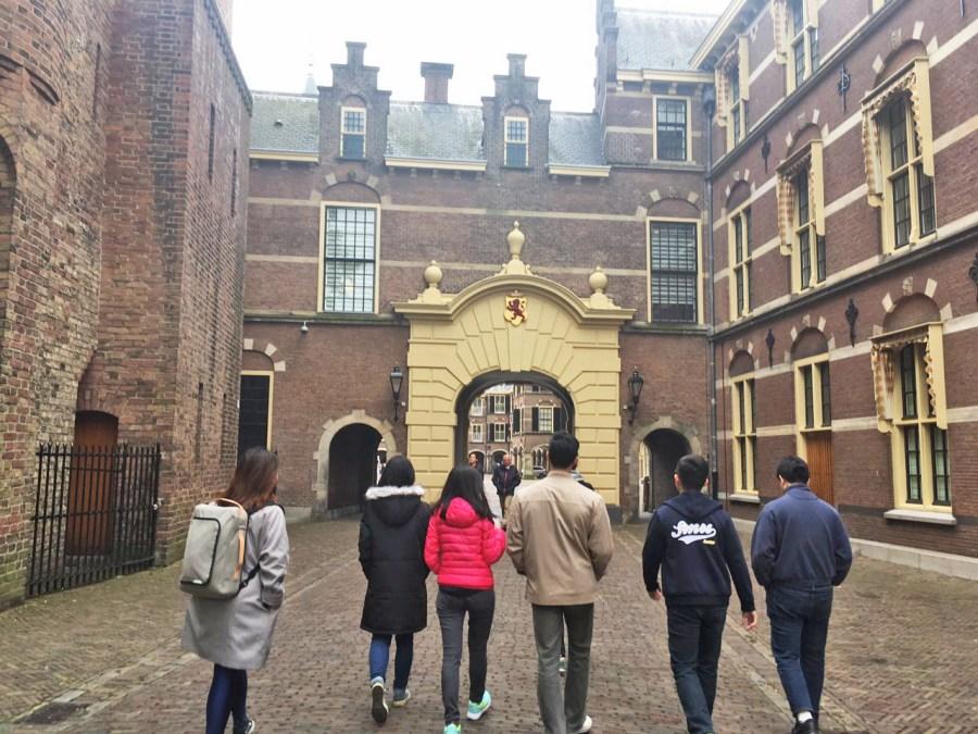 Angus and team mates at the Hague