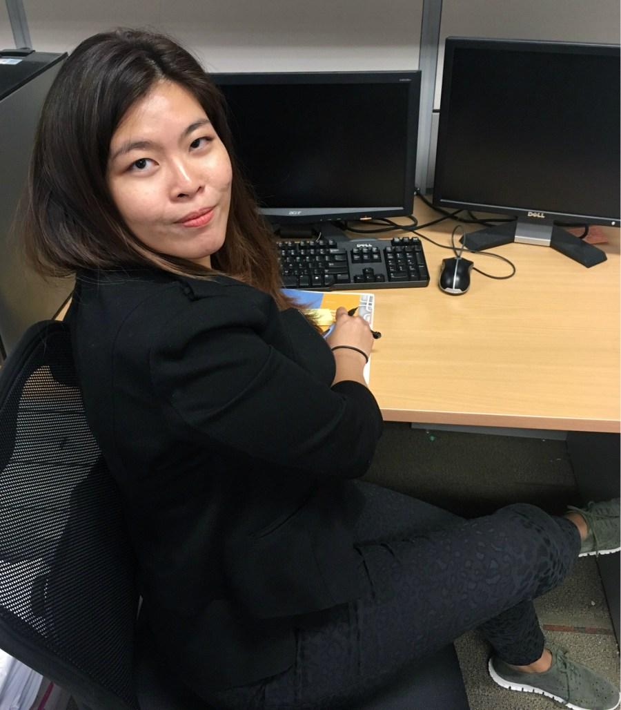 Samantha Sim at work