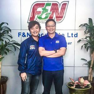 F&N Myanmar Country Manager, Mr Freddy Oh, at F&N Myanmar branch office